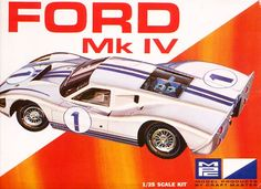 "Ford GT Mk IV 1/25 Scale Kit by MPC Model, I remember this model kit in the late 60's to early 70's! Bought one similar to this...! I liked this car ""love at first sight"" seeing this model for the 1st time!"
