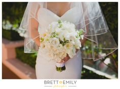 White and Green Bridal #Bouquet
