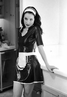 latexandother: dita von teese is lovely latex-maid Sexy Latex, Dita Von Teese, Pin Up, Maid Uniform, Maid Outfit, Latex Dress, Her Style, Celebs, How To Wear