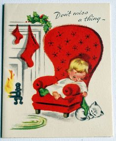 1940s Vintage Sleeping Child Christmas Card!     Aline for Christmas....yey only 4 months left!