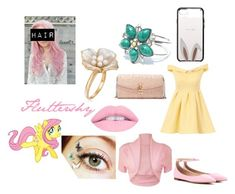 """Fluttershy Human"" by super-swagical ❤ liked on Polyvore featuring York Wallcoverings, L.A. Girl, Chi Chi, WearAll, Gianvito Rossi, Ross-Simons, Dolce&Gabbana, Kate Spade, MLP and Fluttershy"