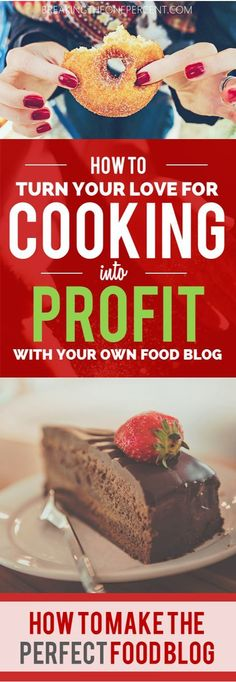 """Definitely going to try this! Cooking AND making money online...how much better does it get? Putting """"Start a Food Blog"""" on my 2017 list of goals :)"""