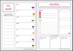 Your Personal Calendar Planner year month by StylishPrintablePlan