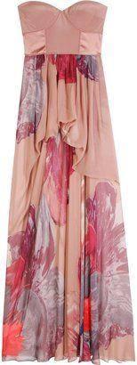 ShopStyle: Tibi Silk Dress With Bustier Bodice