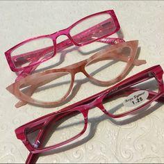 3d884888eb7 Pretty in Pink Cat Eye Rectanguar Reading Glasses