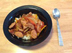 Stewed Tomatoes, Sausage, Pork, Rice, Yummy Food, Meat, Cooking, Recipes, Kale Stir Fry
