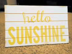 Wood sign hello sunshine Handmade painted by RubySlipperSignCo, $36.00