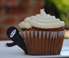 Ninja Theme- Free Printable: Ninja Cupcake Toppers