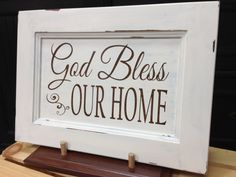 God Bless Our Home  Chalk Painted cabinet door sign by SaidYourWay