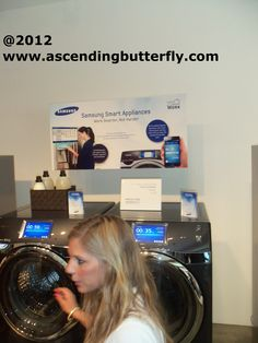 I know before you ask why I'm pinning a Laundry Duo to my Kitchens Board, it's because I live in an apartment, the kitchen is my Laundry Center. I took this picture at the Samsung Make Your House Work product walk through event, you can program this pair from your smart device! OMG! I ♥ it!