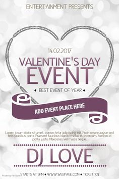 valentines day event poster template for valentines day postermywall