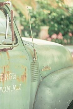 Old rusted out truck - love.