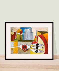 Abstract landscape modern art print urban by EvangeliasArt on Etsy