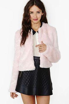 Fairchild Faux Fur Crop Jacket