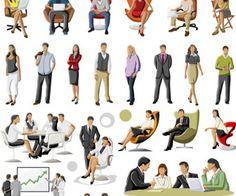 People figures vector