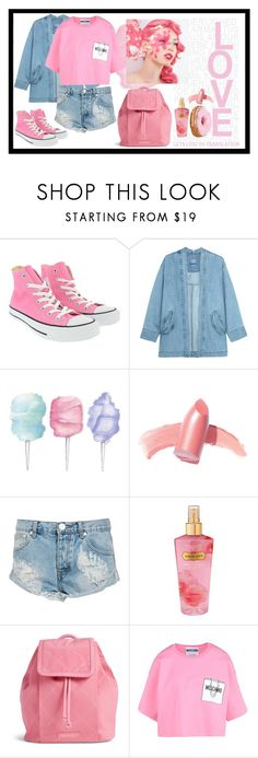 """""""pretty pink"""" by cassie7311 ❤ liked on Polyvore featuring Converse, Steve J & Yoni P, Cotton Candy, Elizabeth Arden, One Teaspoon, Victoria's Secret, Vera Bradley and Moschino"""