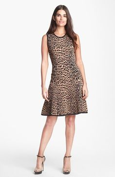 Pink Tartan Leopard Pattern Knit Dress available at #Nordstrom
