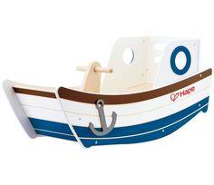 Amazon.com: Hape - Early Explorer - High Seas Wooden Boat Rocker: Toys & Games