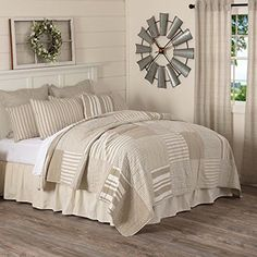 Piper Classics Wheat Field Luxury King Quilt 120 X 105 Oversized Country Cottage Or Modern Farmhouse Beddin Farmhouse Bedding Best Bedding Sets Cool Comforters