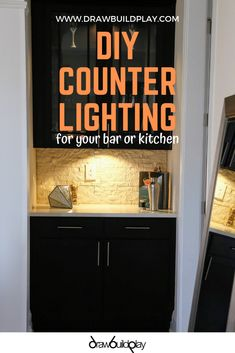 Smart Home Video Gadgets People Under Counter Lighting, Kitchen Under Cabinet Lighting, Light Kitchen Cabinets, Rustic Kitchen Lighting, Diy Cabinets, Rustic Room, Rustic Farmhouse Decor, Ikea Organization Hacks, Build Your Own House