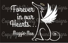 NEW! Greyhound Angel Image (Customize your decal)