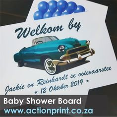 Full colour personalised welcome board