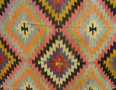 VINTAGE Turkish Kilim Rug Carpet Handwoven by TurkishCraftsArts, $1249.00