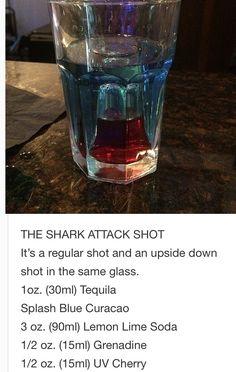 The Shark attack Shot~ Tipsy Bartender
