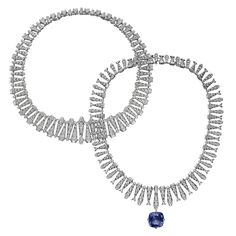 Transformable Incantation diamond necklace with a detachable 22.84ct Ceylon sapphire, from the Cartier Magicien collection (POA)