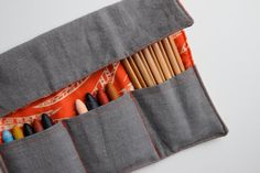 ☼ Limited edition Art Wraps!     ORANGE/RED FEATHER and GREY LINEN    Makes a perfect stocking stuffer!