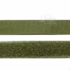 Velcro para coser de color verde kaki