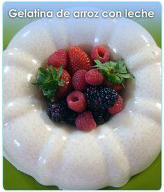 Una gelatina de arroz con leche, riquiiisiimaaa, diferente a las demás y con sus variaciones.