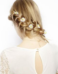 Image 1 of ASOS Flower Braid on Hair Grip
