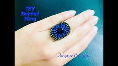 New diy bracelets beads tutorial micro macrame 60 Ideas Diy Beaded Rings, Beaded Bracelets Tutorial, Beads Tutorial, Tutorial Anillo, Ring Tutorial, Necklace Tutorial, Beaded Earrings, Beaded Jewelry, Herringbone Stitch