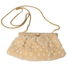 60s Beaded Evening Purse | From a collection of rare vintage evening bags and minaudières at https://www.1stdibs.com/fashion/handbags-purses-bags/evening-bags-minaudieres/