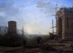Harbour view at sunrise, 1637 - Claude Lorrain