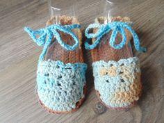 Gebreide & gehaakte schoenen - espadrilles voor de baby - Een uniek product van MCeehandwerk op DaWanda
