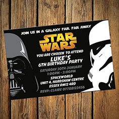 Star Wars Party Invitations & Envelopes Personalised Invites (Pack of 16) Invitebay UK http://www.amazon.co.uk/dp/B018IWOP6G/ref=cm_sw_r_pi_dp_9GrHwb04JD2ZE