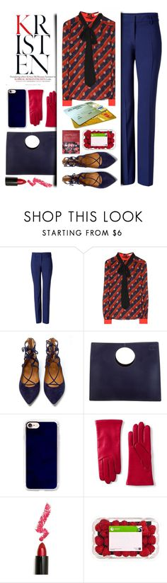 """""""Work Wear"""" by emcf3548 ❤ liked on Polyvore featuring Piazza Sempione, Mary Katrantzou, Aquazzura, Loewe, Casetify, Lands' End, Lime Crime and Nannette de Gaspé"""