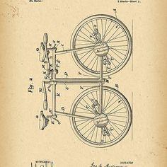 1899 Patent Bicycle Tandem
