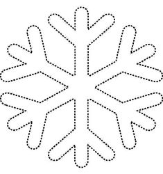 Christmas Ornament Template, Felt Christmas Ornaments, Christmas Decorations, Snowflake Template, Snowflake Pattern, Christmas Colors, Christmas Art, Snowflake Coloring Pages, Decoration Creche