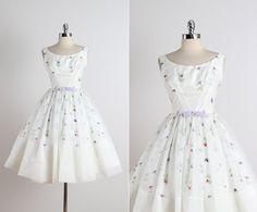 Fred Perlberg. Vintage jaren 1950 jurk. door millstreetvintage