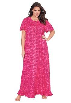 Long cotton knit gown-10 colorways