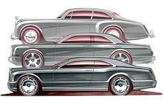 Bentley Brooklands . Design Blood Line Sketch by Crispin Marshfield