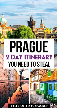 What to do in Prague in 2 days - a Prague 2 Day Itinerary. How To Spend 2 Days In Prague Czech Republic Prague Travel Guide, Europe Travel Guide, Backpacking Europe, Prague Guide, Budget Travel, European Destination, European Travel, Weekend In Prague, Prague Czech Republic