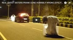 #HeyUnik  Nyamar Jadi Hantu, Pria Ini Nyaris Tewas Ditabrak Mobil #Video #YangUnikEmangAsyik