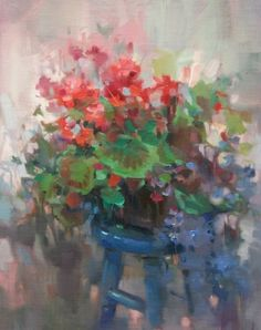 Flower Bench - by Mary Maxam