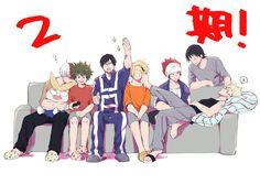 Boku no Hero Academia || Todoroki Shouto, Midoriya Izuku, Tenya Iida, Kaminari Denki, Kirishima Eijirou, Hanta Sero, Katsuki Bakugou.
