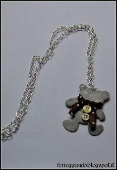 Collana orsetto in ferro battuto