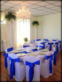 Trendy wedding blue and silver receptions ideas Blue Wedding Receptions, Wedding Reception Decorations, Royal Blue Wedding Decorations, Royal Blue Centerpieces, Wedding Centerpieces, Royal Blue And Gold, Blue And Silver, Our Wedding, Wedding Blue